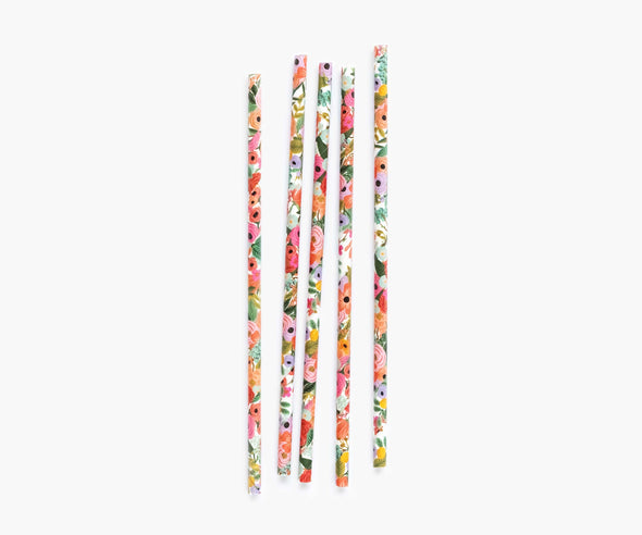 Garden Party Paper Drinking Straws