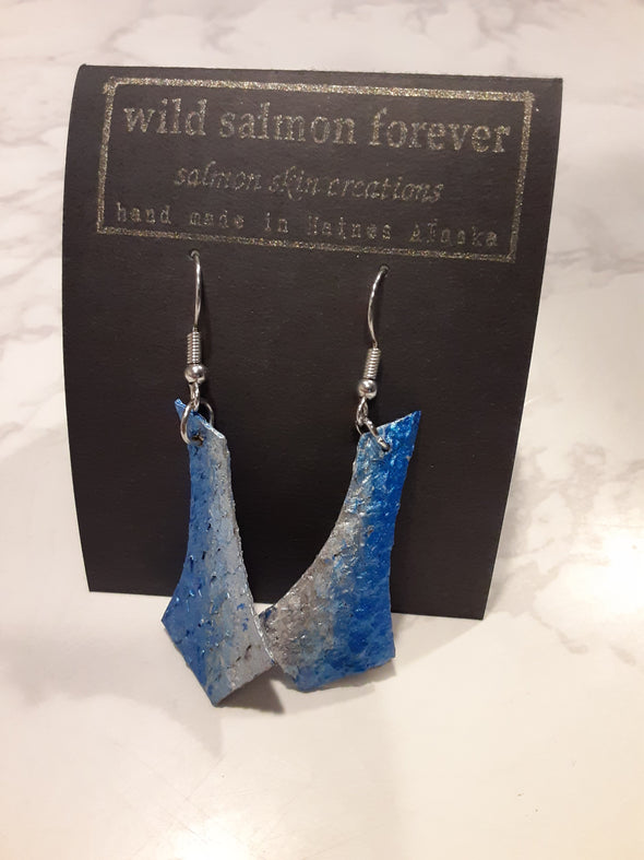 Blue / Silver Spear Earrings