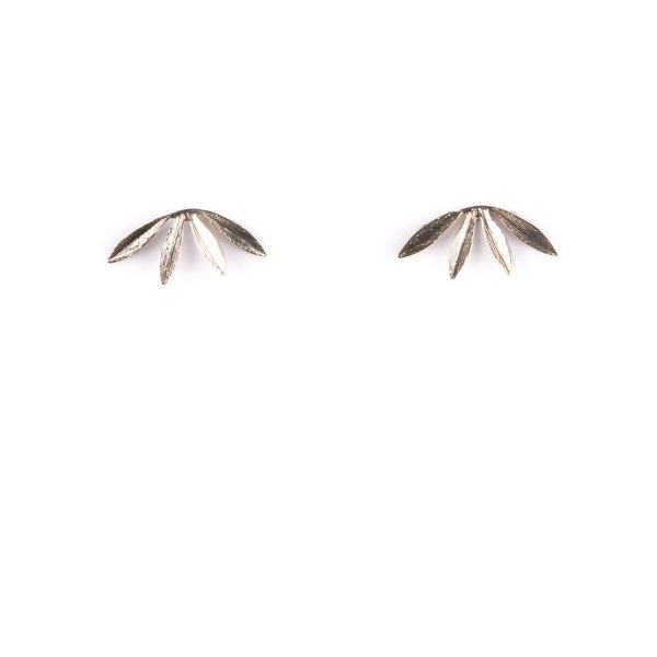 Sterling Silver Laurel Studs