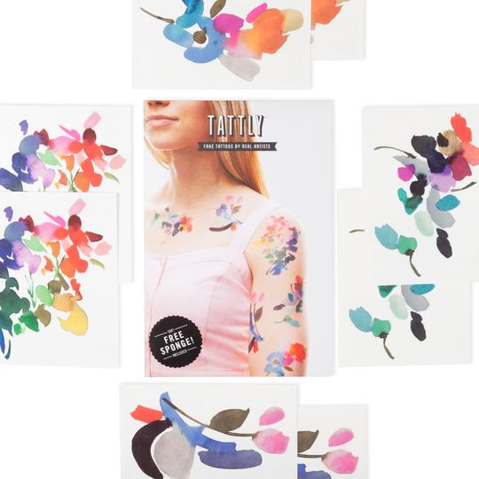 Abstract Florals Temporary Tattoo Set