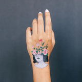 Flower Head Temporary Tattoos