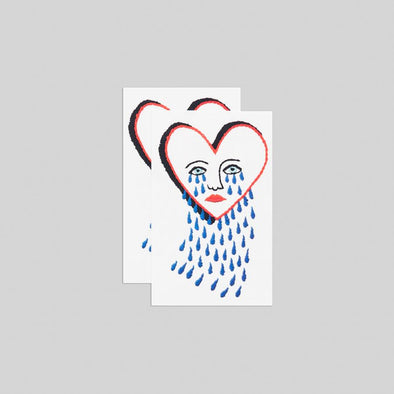 Stitched Broken Heart Temporary Tattoo