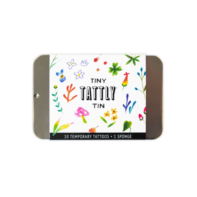 The Tiny Imaginary Garden Tin Temporary Tattoo Set