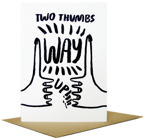 Two Thumbs Way Up Card