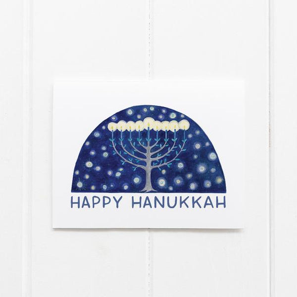 Happy Hanukkah Menorah Card