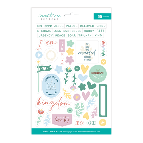 Upside Down Kingdom Decor Stickers
