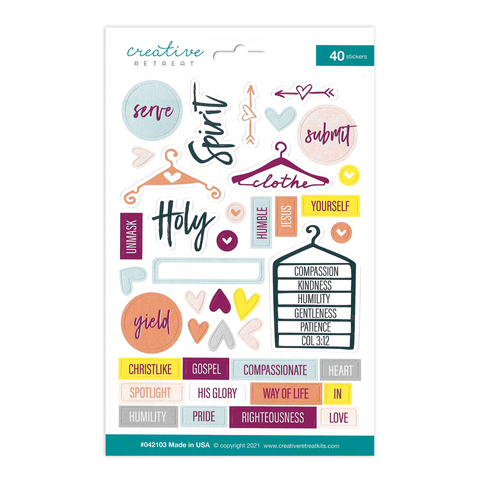Clothed in Humility Decor Stickers