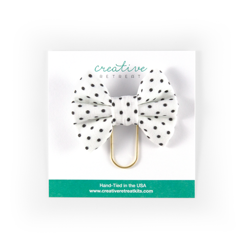 Simple Dot Bow Clip