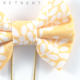 Butter Floral Bow Clip