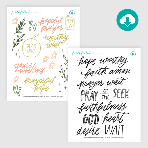 Worthy of the Wait: Hand-Lettered Starters