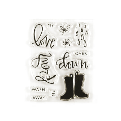 Love Pour Down Stamp Set