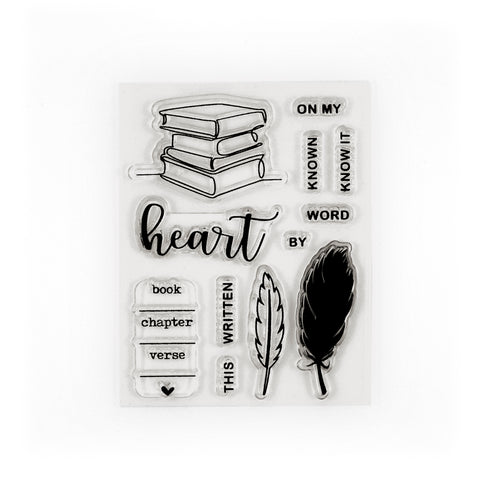 Written on My Heart Stamp Set