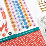 UNSINGED Alphabet Stickers