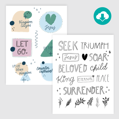 Upside Down Kingdom: Hand-Lettered Starters