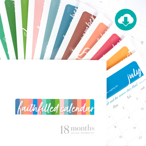 18-month faithfilled calendar