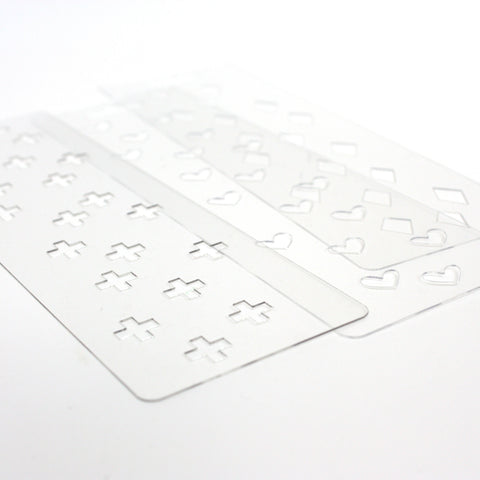 Margin Sprinkle Stencil Set