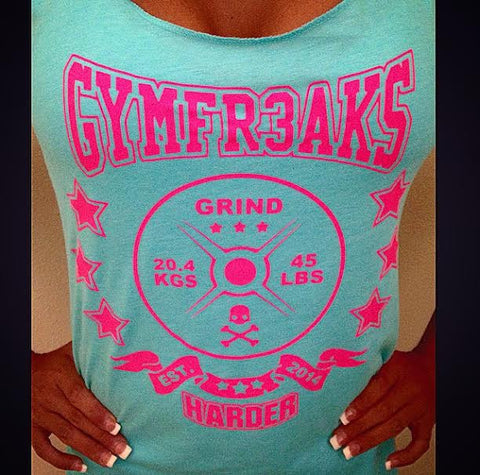 GYMFR3AKS GRIND HARDER WOMENS TANK