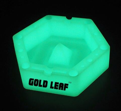 GOLD LEAF -SILICONE GLOW IN THE DARK ASHTRY™