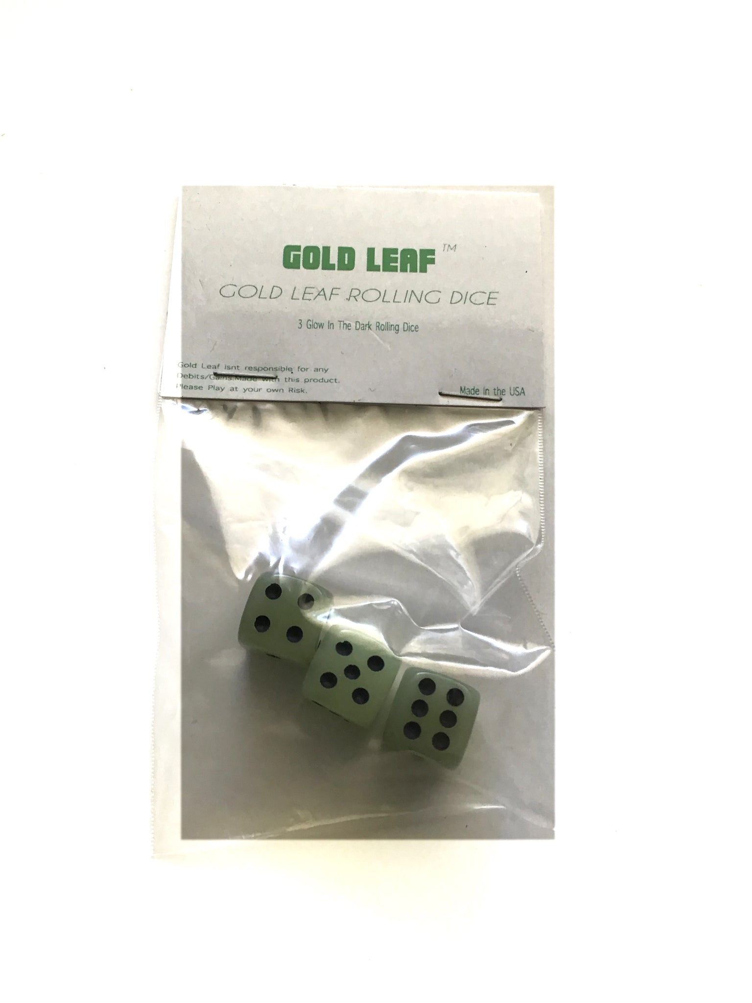 GOLD LEAF - ROLLING DICE ™