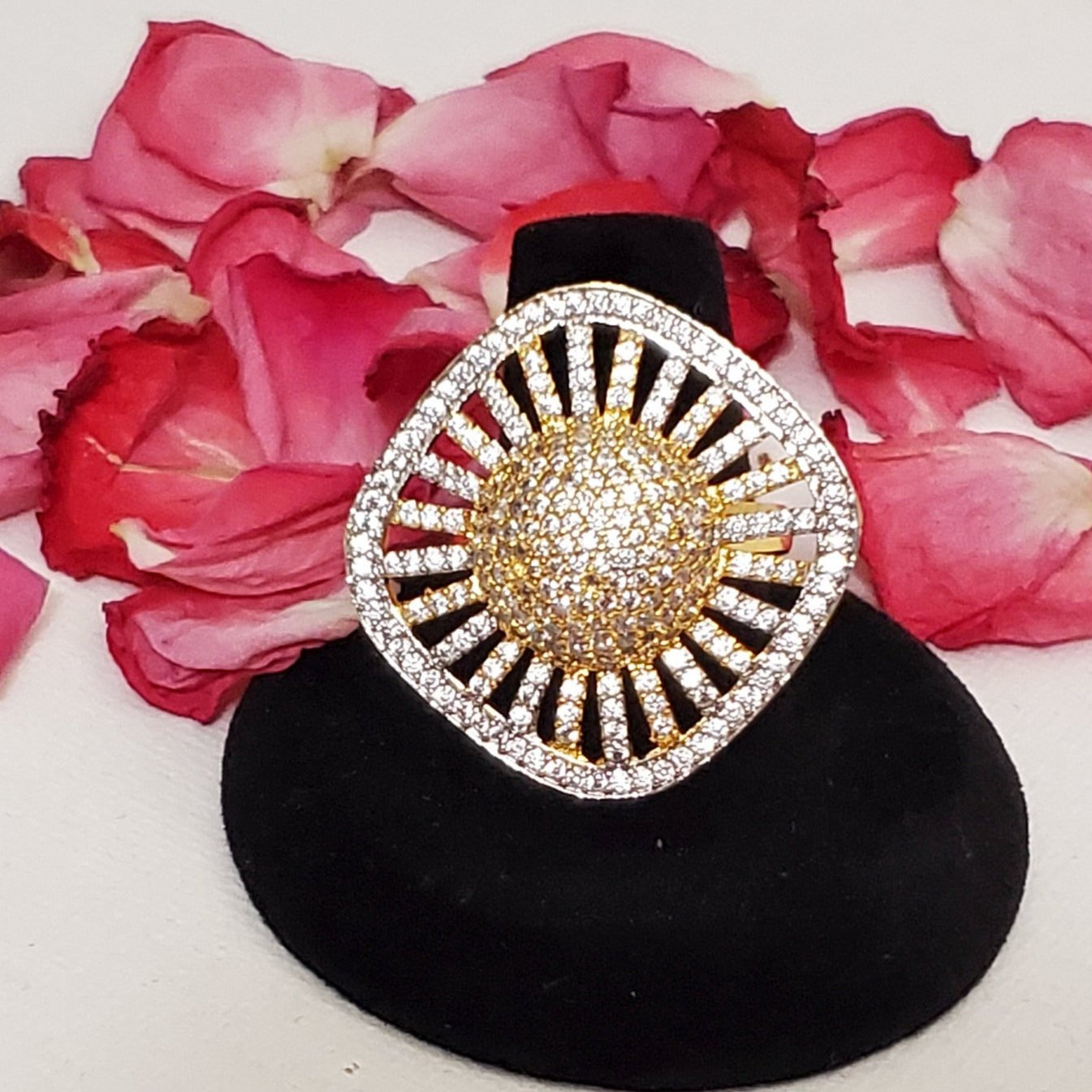 CZ/AD Diamond Ring/statement Ring/party wear/Indian jewelry/cubic zircon Ring/oversize Ring/ Handcrafted CZ Ring/Bollywood Designer jewelry
