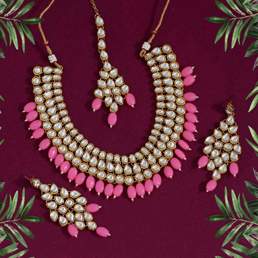 kundan Necklace set/chokar kundan haar/designer polki kundan necklace/pearl necklace/Indian jewelry/ bridal necklace set/artificial jewelry