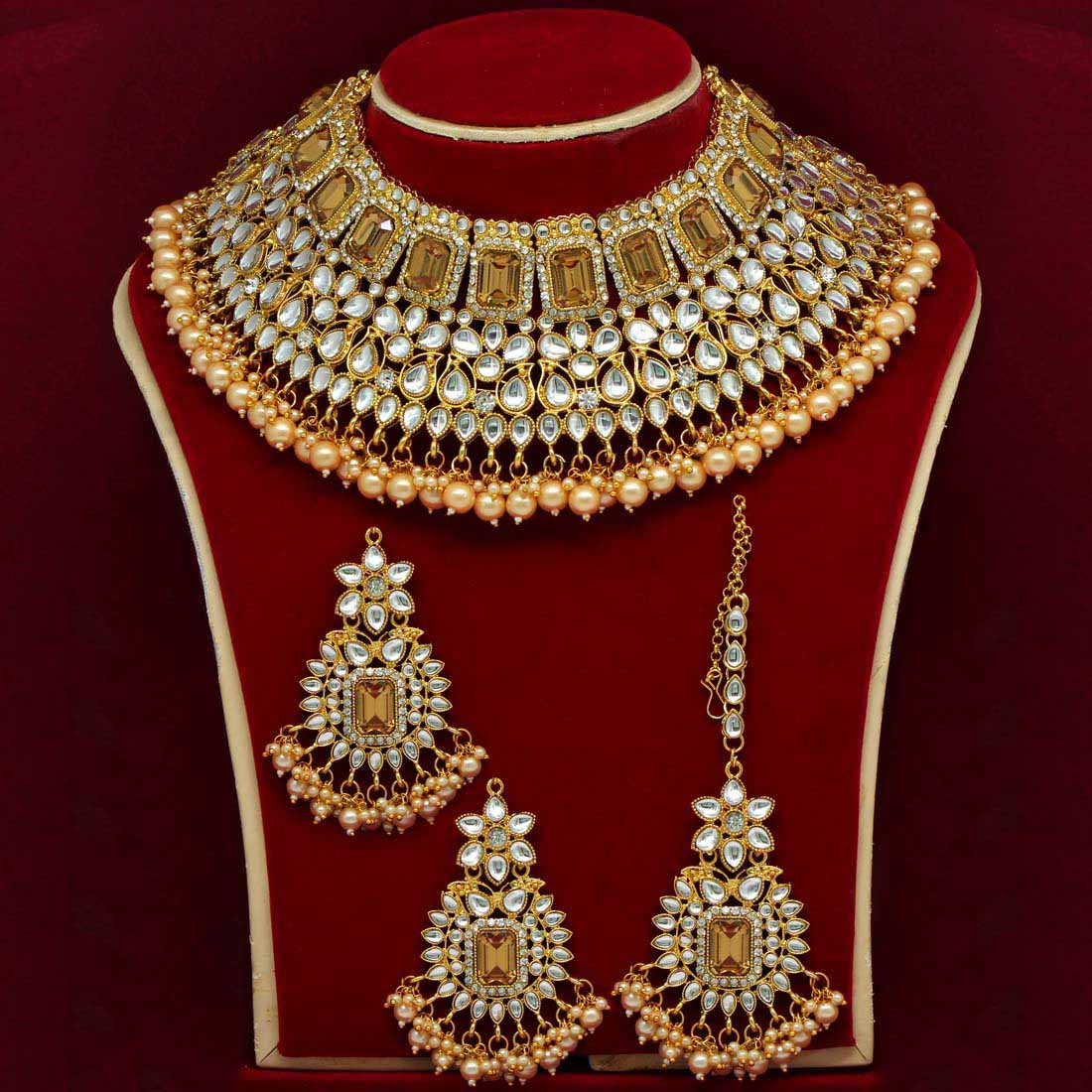 Indian Heavy Bridal Choker Necklace set