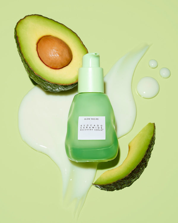 avocado ceramide recovery serum with avocado and texture