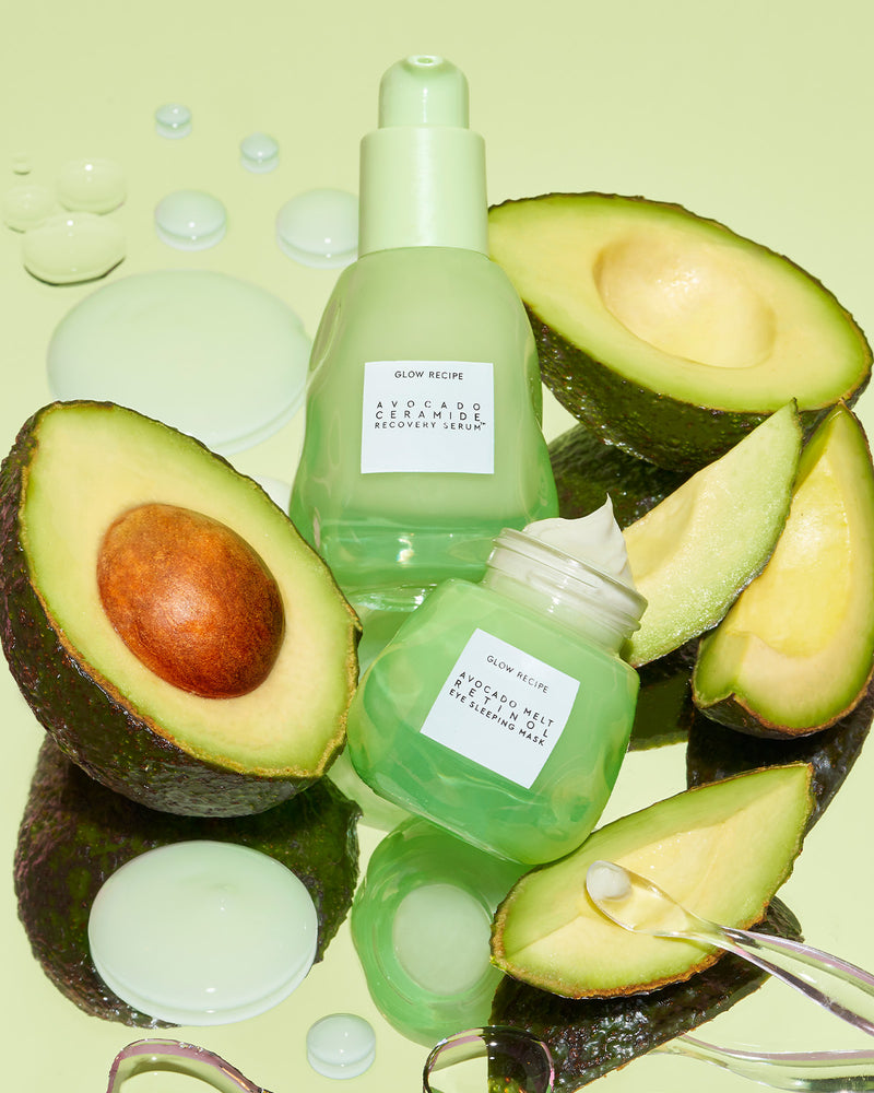 avocado ceramide recovery serum with avocado eye cream
