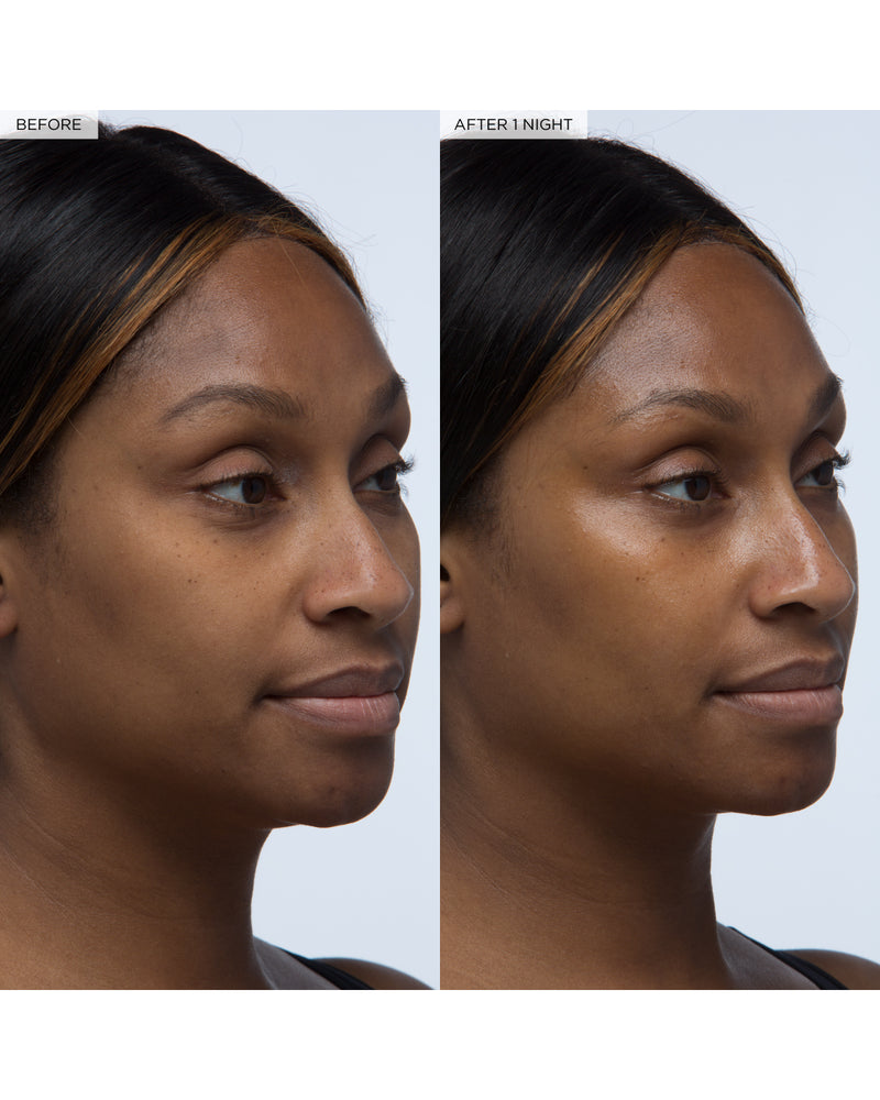 model with avocado melt retinol sleeping mask before and after one night visual claims