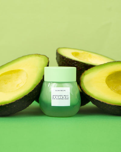 Glow Recipe Avocado Melt Retinol Eye Sleeping Mask with real avocados