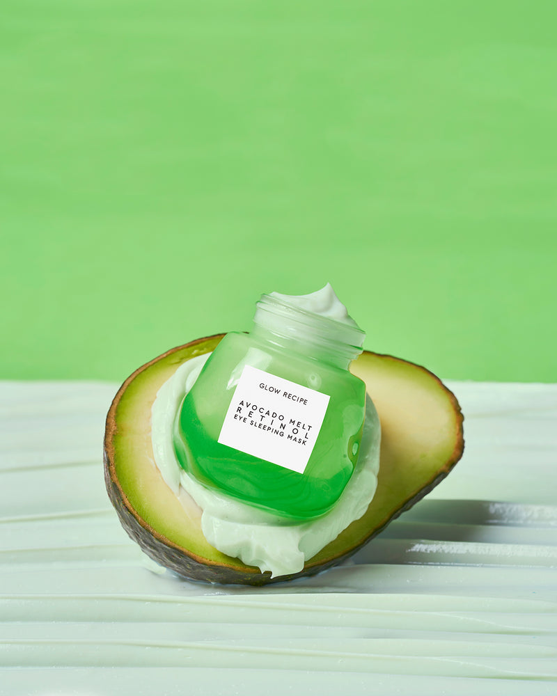 Avocado Melt Retinol Eye Sleeping Mask with avocado