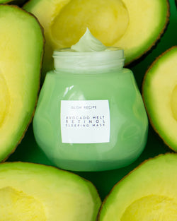 avocado melt retinol face sleeping mask with real avocados