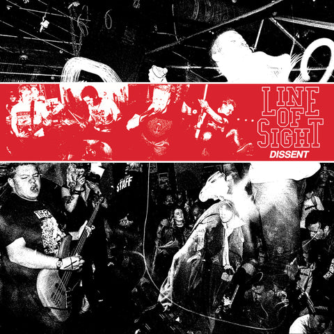 "Line of Sight ""Dissent"" 7"" Coke Bottle Clear Vinyl"