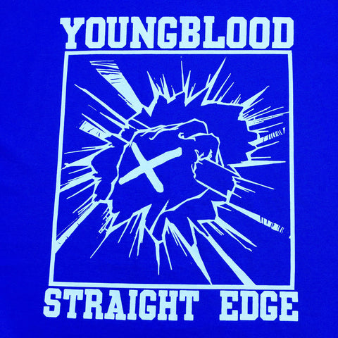 Youngblood Straight Edge Royal Blue T-Shirt