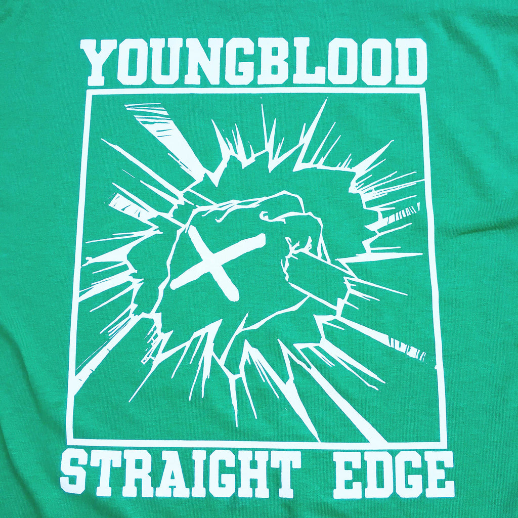 Youngblood Straight Edge Kelly Green T-Shirt