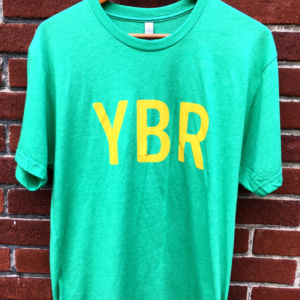 YBR Tri-Blend Green with Gold Ink