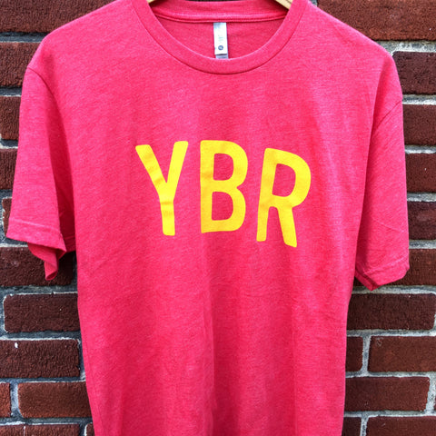 YBR Tri-Blend Red with Gold Ink