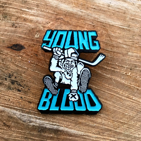 Youngblood Records Walrave Design Enamel Pin Seafoam