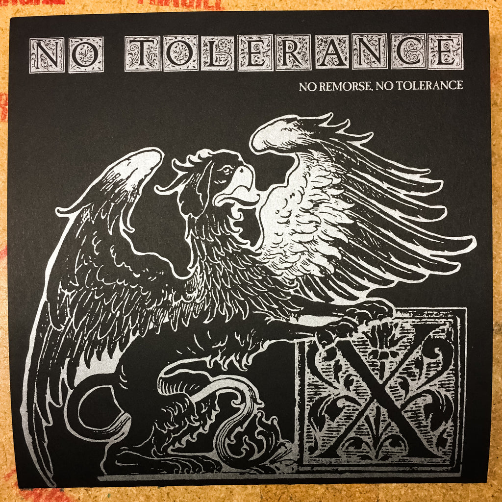 "No Tolerance ""No Remorse, No Tolerance"" 7"" Clear Vinyl Final Press"