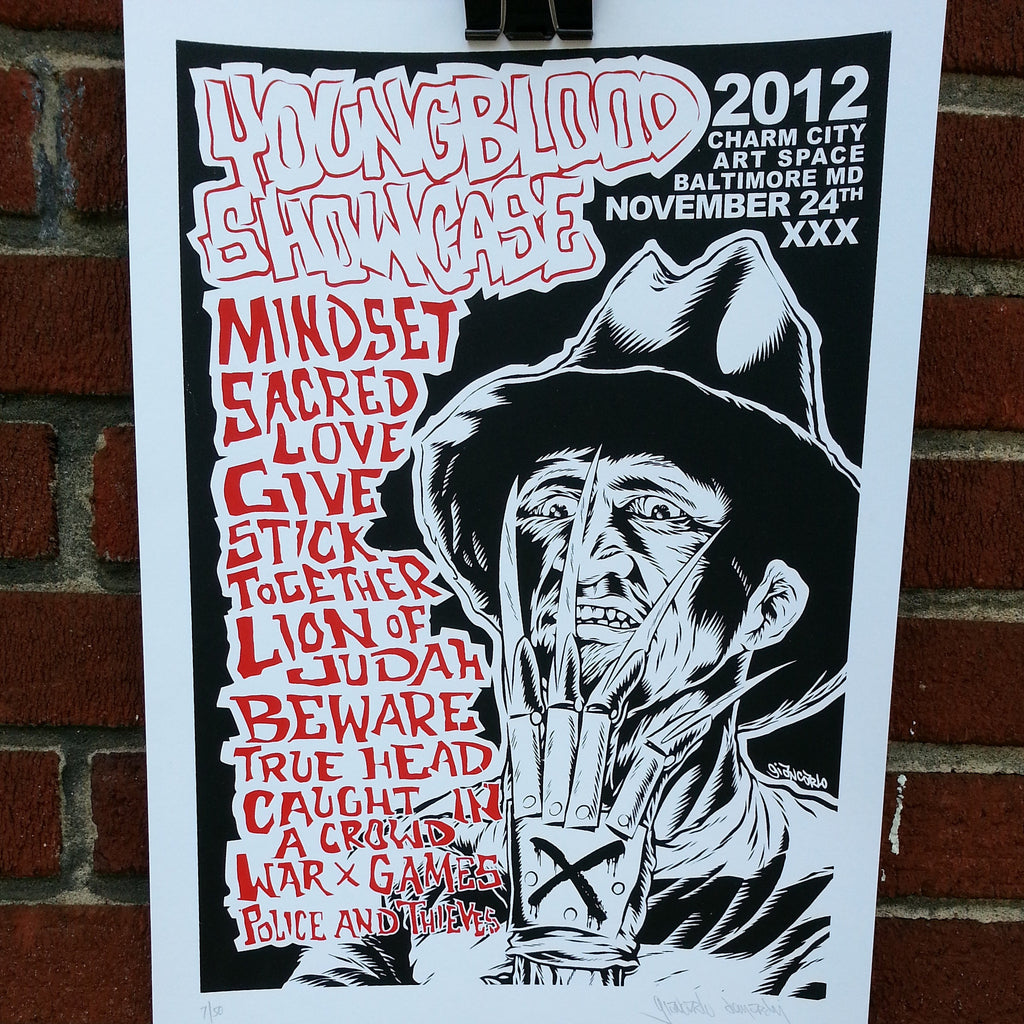 Youngblood Showcase 2012 Silkscreened Poster