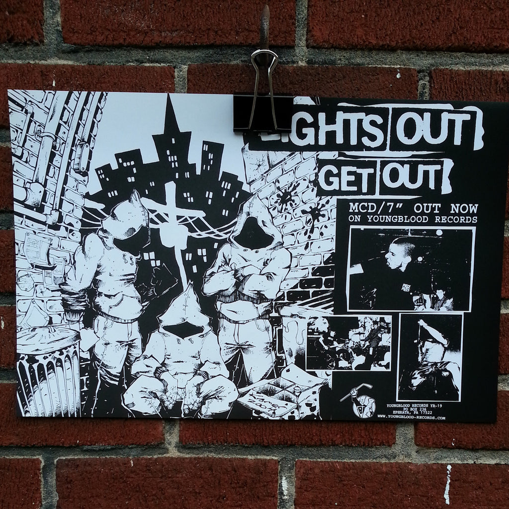"Lights Out ""Get Out"" Poster (folded in half)"