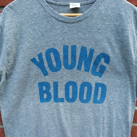Youngblood Tri-Blend Grey with Royal Blue Ink