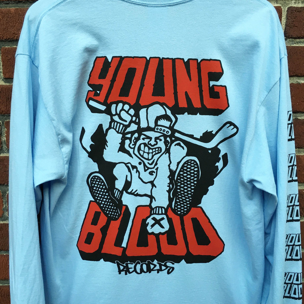 Youngblood Walrave Design Longsleeve Light Blue Red Ink