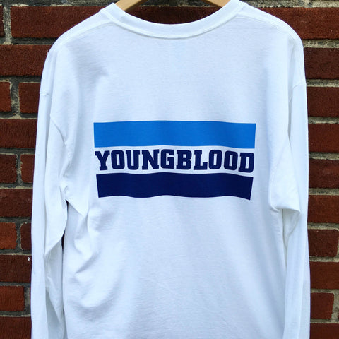 SIZE XXL SALE: Youngblood YBR Design White Longsleeve