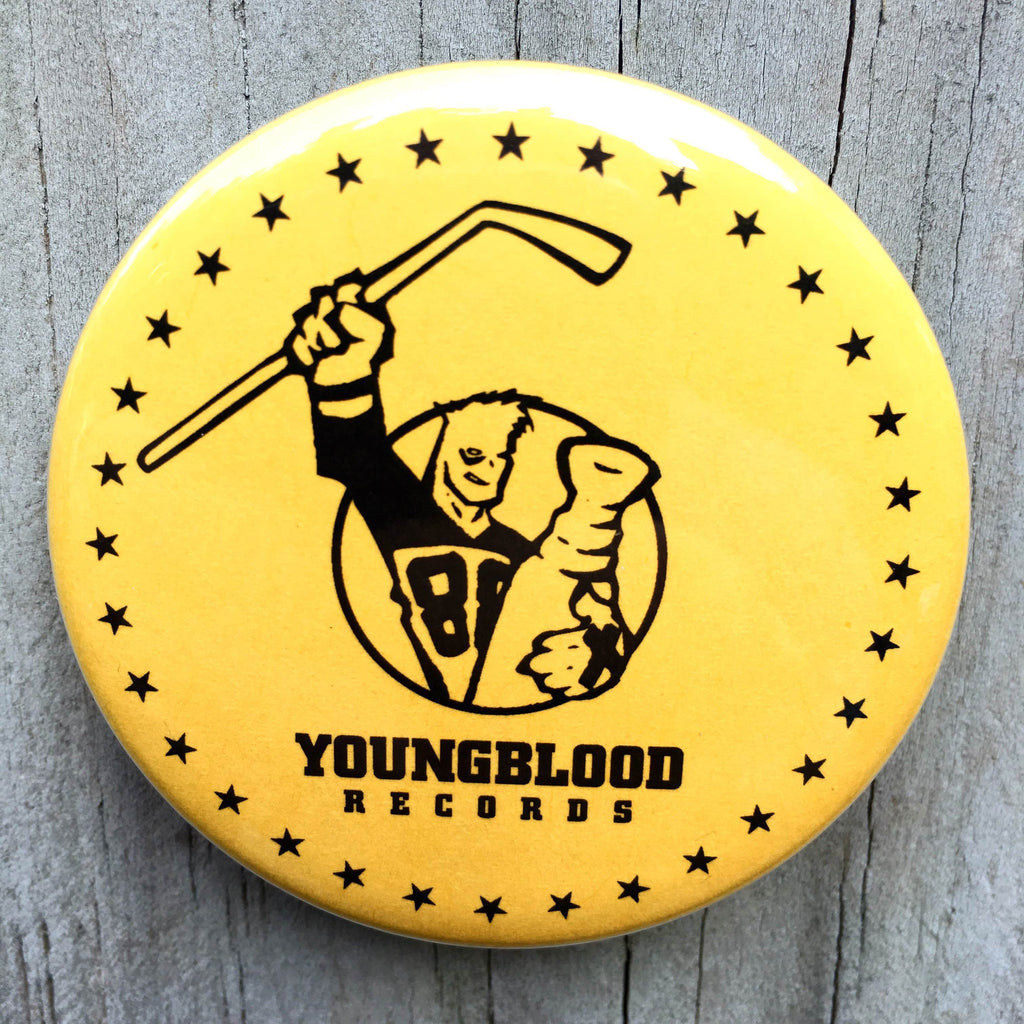 "Youngblood Records 2.25"" Button Gold"