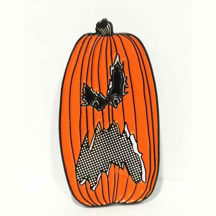 Halloween Pumpkin Enamel Pin from No More Industries