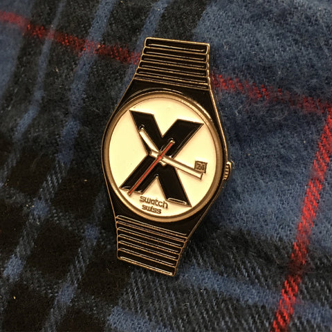 X-Rated Watch Enamel Pin from Side XX Pins