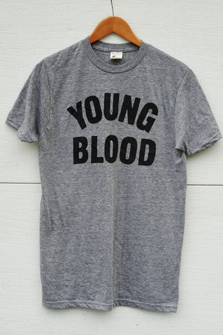 Youngblood Tri-Blend Grey with Black Ink