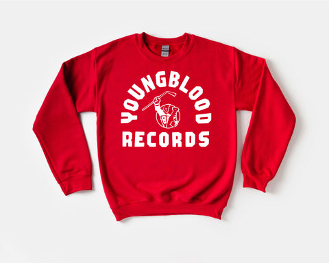 Youngblood Records Red Crewneck