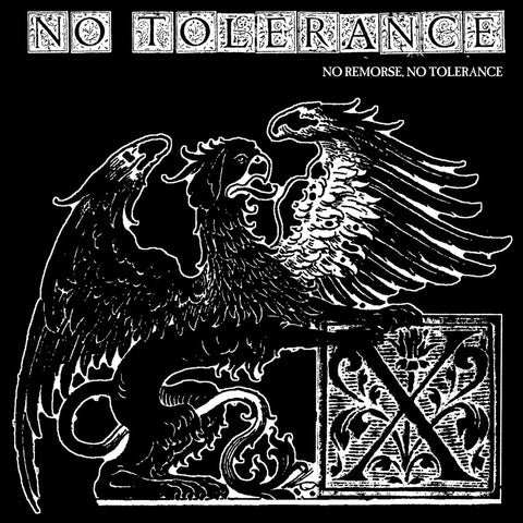 "Vault Copy: No Tolerance ""No Remorse, No Tolerance"" 7"" Blue Vinyl"